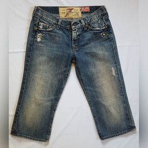 7 for all man kind, 25, Capri jeans